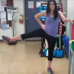 Pre run stretching